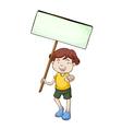 banner kid vector image vector image