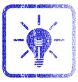 light bulb framed textured icon vector image