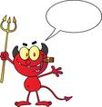 Cartoon devil vector image vector image