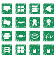 different colorful labels icons set grunge vector image