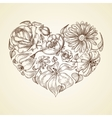 Heart of flowers graphic icon vector image vector image