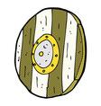 comic cartoon wooden shield vector image