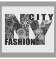 New York T-shirt fashion Typography vector image