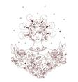 Creative idea - girl of a series vector image