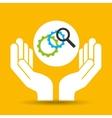 hand optimization technology progress vector image