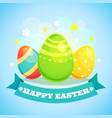happy easter card with eggs vector image