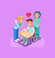 man in wheel chair isometric people vector image