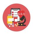 Medical examination set Flat icon vector image