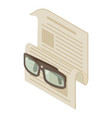 newspaper icon isometric 3d style vector image