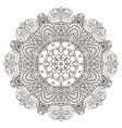 oriental beautiful ornament mandala round pattern vector image