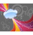 Rainbow abstract advertisement vector image