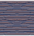 Seamless Rounded Rope Lines Brade Pattern vector image