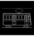 Tram city public municipal passenger transport vector image