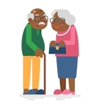 Old family African Adult Grandfather Grandmother vector image