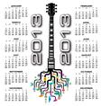 2013 guitar tree calendar vector image vector image