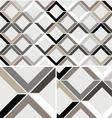 Vintage Chevron Diamond seamless pattern vector image vector image