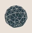 wireframe 3d sphere vector image