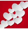 hearts background vector image vector image