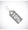 Price tag black icon vector image