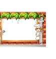 Banner and chefs vector image