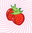 appetizing strawberry vector image vector image
