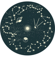 zodiac background vector image vector image