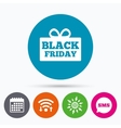 Black friday gift sign icon Sale symbol vector image