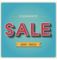Clearance sale Retro type font EPS10 vector image