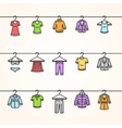 Clothing Icons Set on Hanger vector image