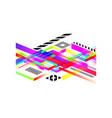 corporate futuristic design abstract geometric vector image