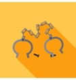 flat shackles Open vector image