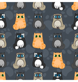 funny cartoon seamless pattern of cats vector image