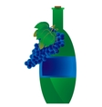 Green bottle of wine vector image