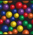 rainbow balls seamless pattern vector image