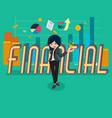 salary girl 01 financial vector image