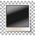 Old empty realistic photo frame vector image vector image