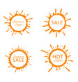 summer sale label set vector image
