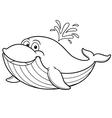 Whale outline vector image vector image