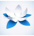 Blue cutout paper plower vector image