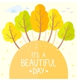 trees autumn flat vector image vector image