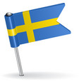 Swedish pin icon flag vector image vector image