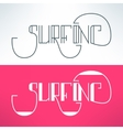 surf vintage lettering design background vector image