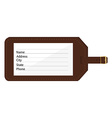 Luggage tag vector image vector image