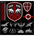 Set of military patches logos badges and design vector image