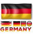 Germany flag in different designs vector image vector image