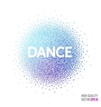 Dance beautiful design element for greeting card vector image
