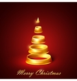 abstract golden Christmas tree vector image