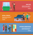 business concept set real estate vector image