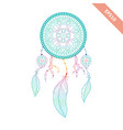 dream catcher isolated on white background vector image