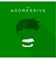 Mask Aggressive villain flat style icon vector image